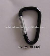 39.5*3.8mm D shaped zinc camping carabiner hook