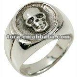 2012 fashion Men`s Gothic Skull Signet Ring