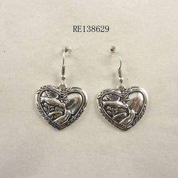 vogue design anti silver plating lucky birds earring