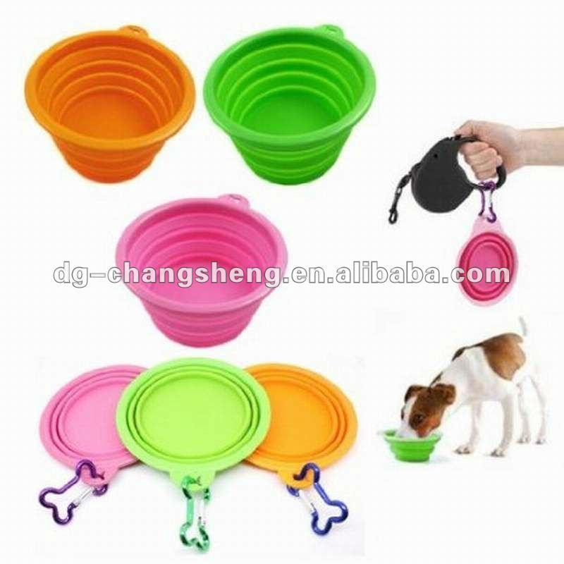 Convenient foldable/collapsible dog travel bowl