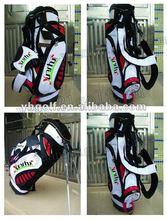 OEM desiger quality PU leather golf stand bag