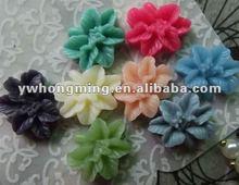 Newest fashion 2012 resin flower flatback!Jewelry resin flowers!