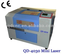 QD-4030 mini crystal small laser engraver price low with hi quality reflector and focus lens