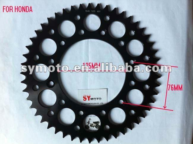 motocross parts, racing alloy sprocket for big bikes