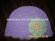 Baby Girl's 100%Cotton Knitting Crochet Beanie Cap