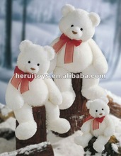 30 cm-160 cm with the red silk scarves of pure white bear stuffed plush toy &Valentines Gift & Holiday Gift