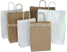 Small White Paper Twist Handle Carry Bag