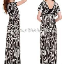 2012 New Design V-neck Maxi Dress