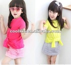 2012 new design children's clothing set child cloth children garment teen girls clothing