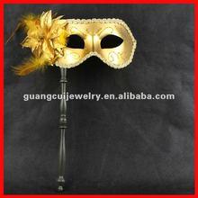 fashion flower venice mask with stick rod