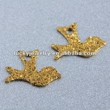 bird metal earring finding