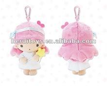 15 cm Very cute the pink little girl creative small plush pendants&plush mobile phone pendant