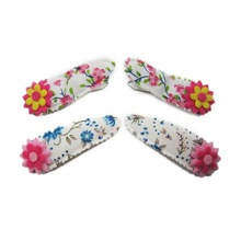 fabric wrapped children Hair Clips