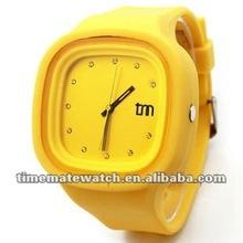 Fashion Jelly Square Silicone Quartz Diamond Watch