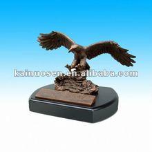 Standing eagle resin sculptures