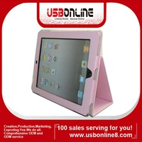 Pink For The New iPad 3 Folio PU Leather Cover Case with Stand