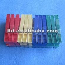 215091 24 PCS CHEAP PLASTIC CLOTHES PEG SET