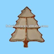 ceramic tableware Xmas tree condiment plate