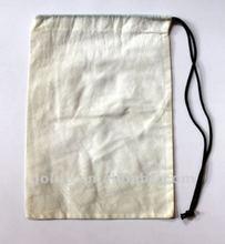 2012 High quality cotton drawstring shoe bag
