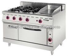 Cooking Range /4-Burner Gas Range & Griddle With Gas Oven <HGR-992>