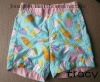 lovely girls&#39; box shorts with peach skin fabric