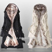 winter coat 2012 japan style fabric for women lining 100 wool size 3xl xxl