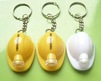 Mini Hard Hat Keychain Light, LED Helmet Keyholder,Cap Keyring