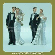 Elegant couple figurine wedding topper for cake