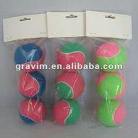 2.5 inch 3pcs Colorful Tennis Ball
