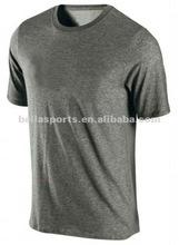 2012 men's grey sports T-shirt, polo T-shirt, club T-shirt, blank T-shirt