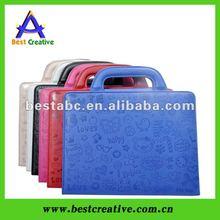 cute cartoon handbag for ipad leather case for ipad 2