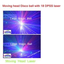 Patent Moving head 3300mW RGB laser light , Dj disco night club lighting Green laser Ball