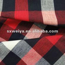 100 yarn dyed cotton plaid fabric