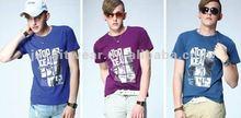 2012 kindly colorful handfeel printing 100%cotton sport O-neck mens t-shirt
