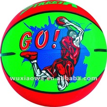 Sport system/rubber paintball balls/ rubber custom basketball 7(RB104)