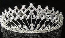 Fashion rhinestones tiara crown in popular design