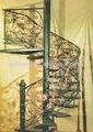 2012 nueva fábrica caliente gavanized profundo decorativos de hierro en espiral cerca escaleras escalera de caracol