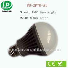 2012 new products lamp led bulb 9w e27