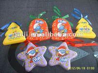 polyfoam christmas decoration bell/star/boots/tree/ball