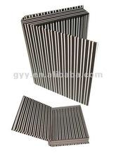 2012 GYY Black white strip book shape rigid box