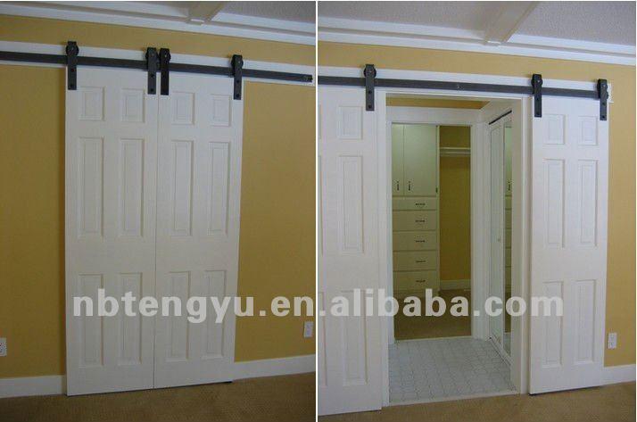 Assorties quincaillerie de porte de grange pour porte en bois glissi res de p - Rail porte de grange ...