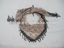 2012 summer triangle scarf with lace in stock