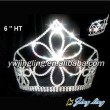 rhinestone flower tiara crown pageant tiara