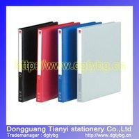 Single strong pocket clip file folders plastic file folder
