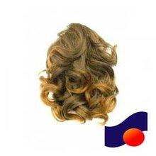 romance curls party clip ponytail