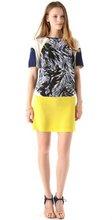 colourblock crepe boat neck fashion dress 2012
