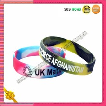 Hot 2012 london camouflage silicone custom uk wristband for olympic games