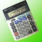 12 digits middle size office Daul power aluminum face desktop Tax calculator