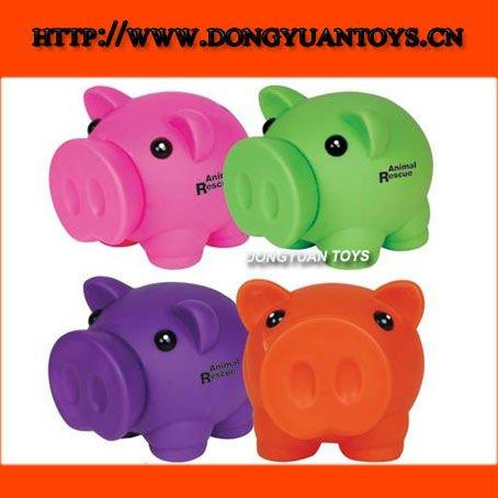 de dibujos animados de cerdo banco el dinero