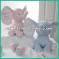 Bébé jouets en peluche éléphant st-0177 nom brodé